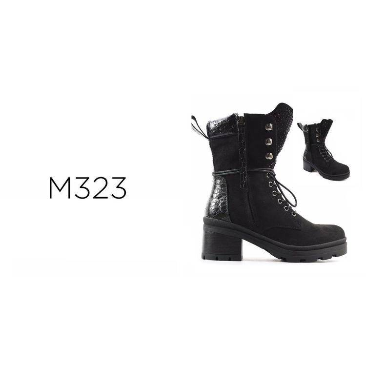Lace Up Heeled Boot Happy Feet