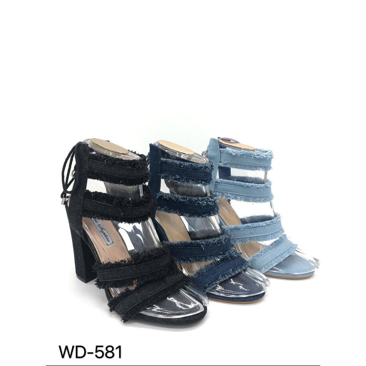 Frayed Strappy Sandal with Block Heel Happy Feet