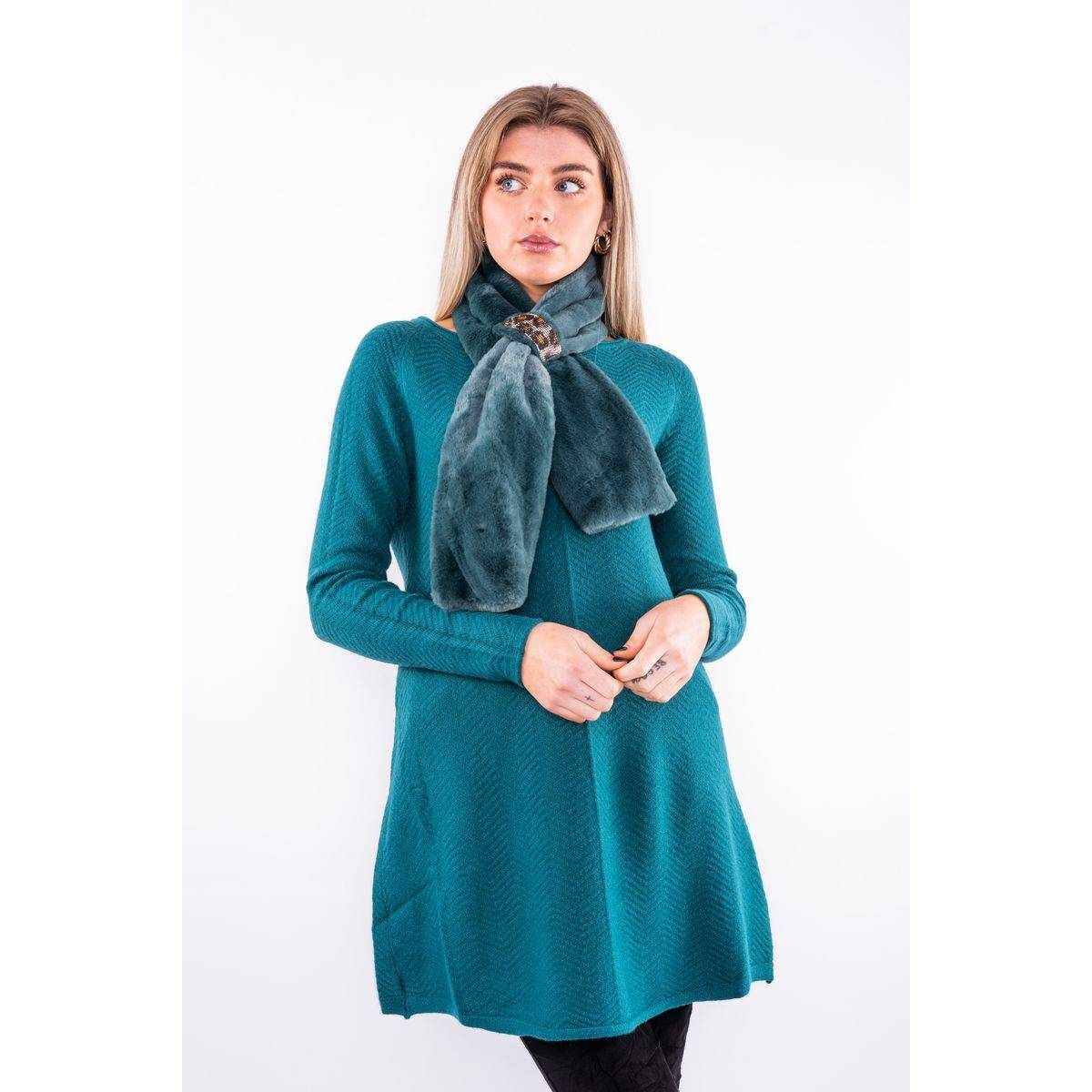 Jumper dress with matching scarf Lucy Sparks