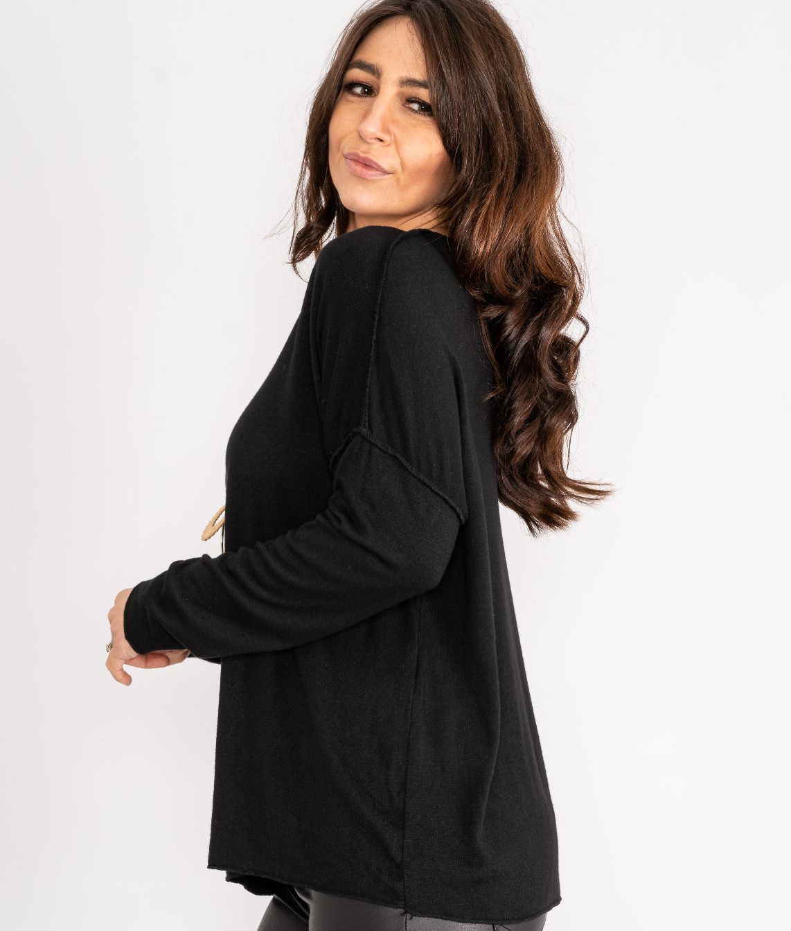 Long sleeve top with necklace Lucy Sparks