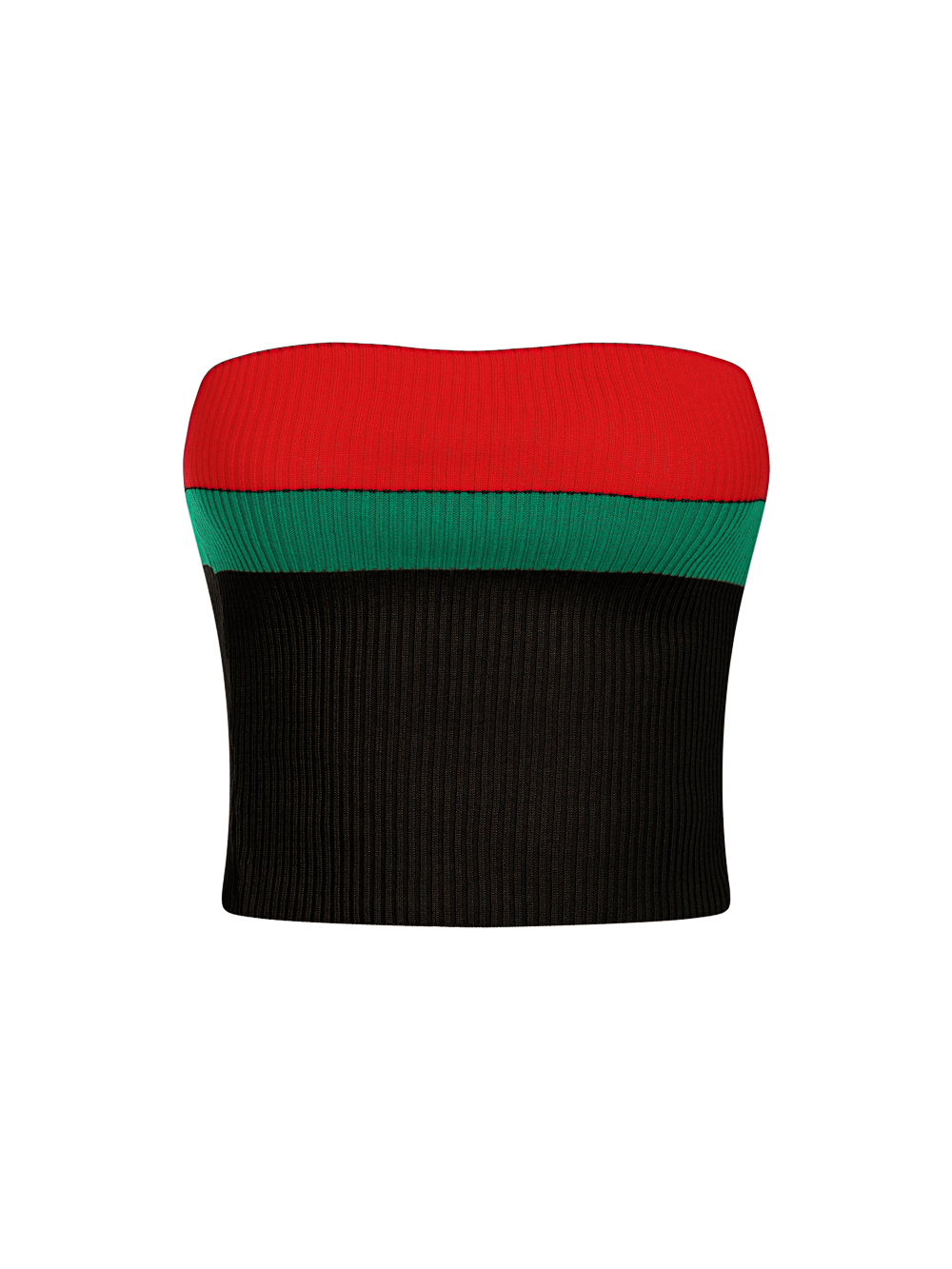 Zara Black Red and Green Striped Fine Knit 3 Piece Lounge Co-ord Set Nazz Collection