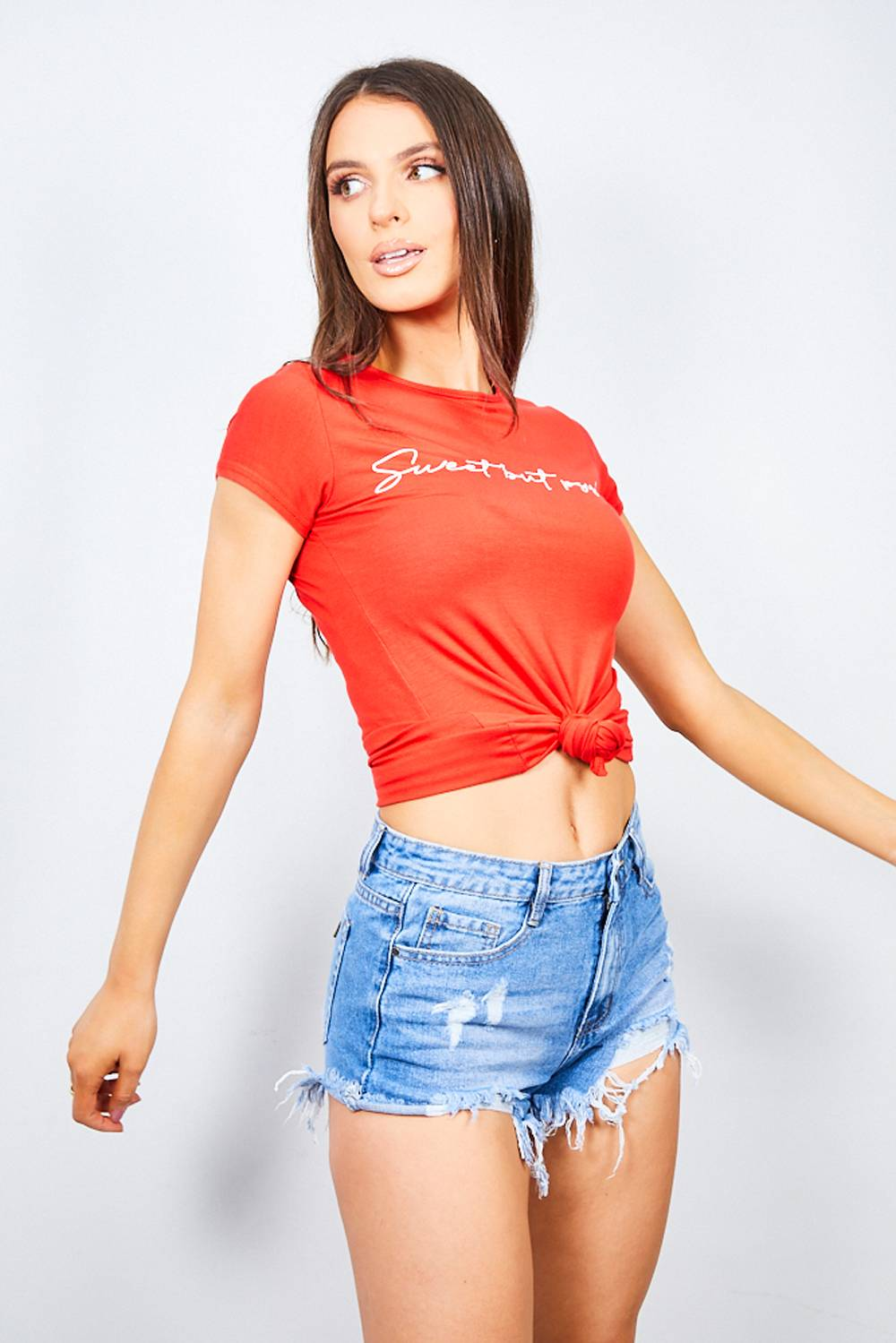 Red Sweet But Psycho Tee J5 Fashion