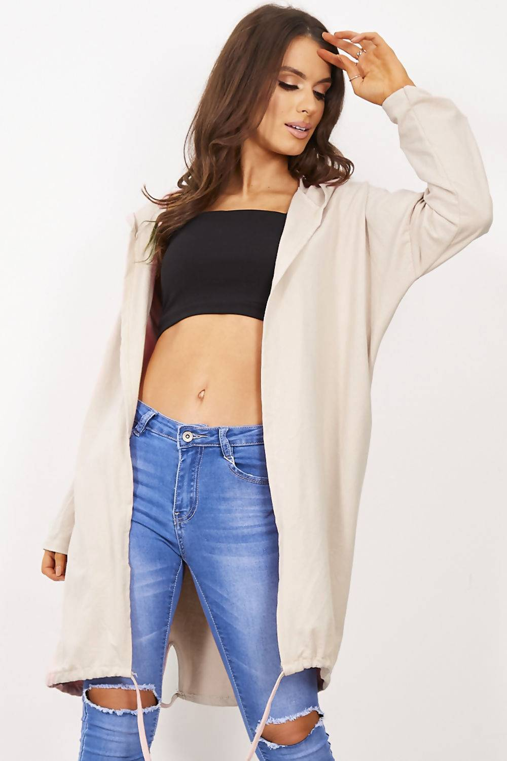 Lilac Sequin Angel Wing Hooded Cardigan J5 Fashion