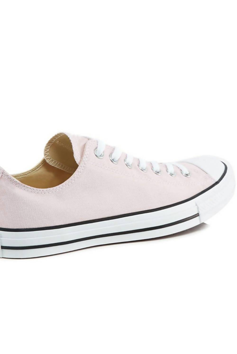 Pink Canvas Flat Lace Up Trainers J5 Fashion