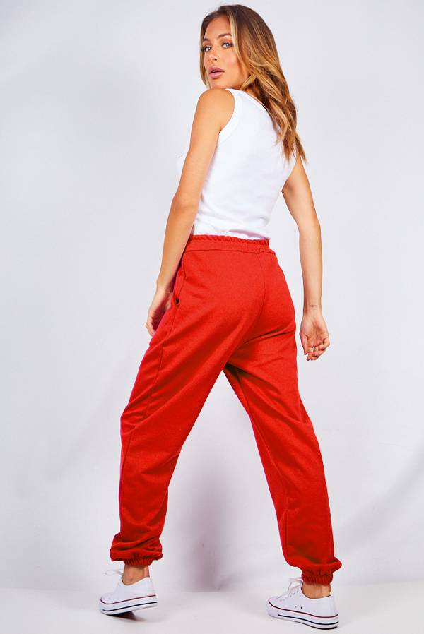 Red Oversized Joggers J5 Fashion
