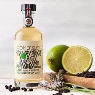 Lime, Black Pepper & Lavender Vinegar, Case of 6 Womersley Fruit and Herb Vinegars Ltd