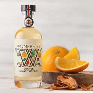 Orange & Mace Vinegar, Case of 6 Womersley Fruit and Herb Vinegars Ltd