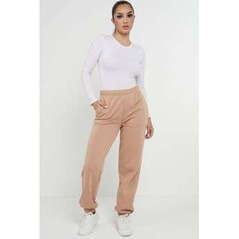 Taupe Oversized Joggers Sweatpants Ladies Bottoms Jogging Gym Pants Lounge Sketch Trading Co Limited