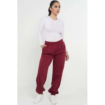Wine Oversized Joggers Sweatpants Ladies Bottoms Jogging Gym Pants Lounge Sketch Trading Co Limited