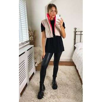 Reversable Cropped Gilet Top Attraction