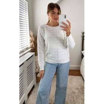 Cable Knit Jumper Top Attraction